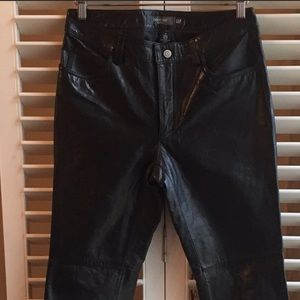 GAP LEATHER BOOTCUT JEANS